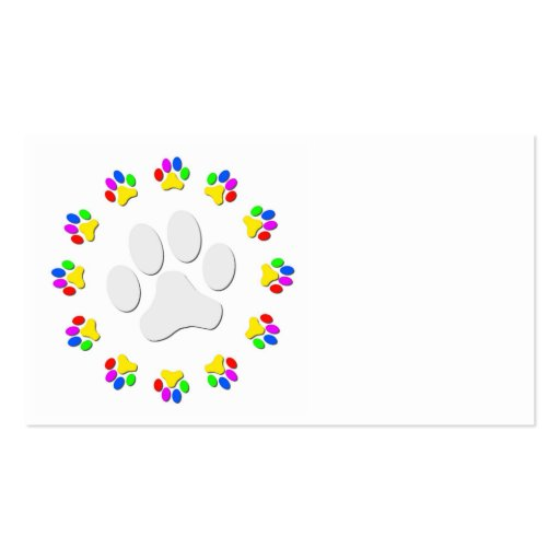 Paw print business card templates page2 bizcardstudio rainbow pawprints business cards colourmoves