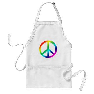 Rainbow Peace Adult Apron