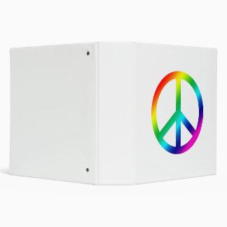 Rainbow Peace Vinyl Binder