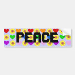 Rainbow Peace bumper sticker Car Bumper Sticker