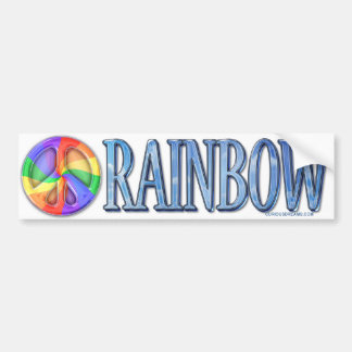 Rainbow Peace Bumpersticker Car Bumper Sticker