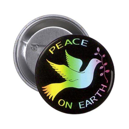 Rainbow Peace Dove Peace Sign Pinback Button