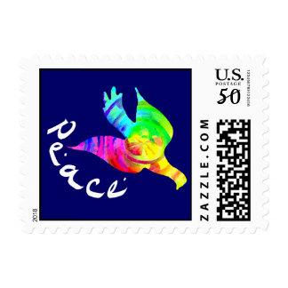 Rainbow Peace Dove Stamps