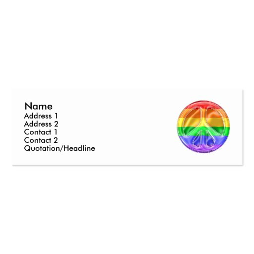 Rainbow Peace Flag Business Cards