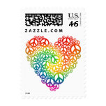 Rainbow Peace Heart Stamp