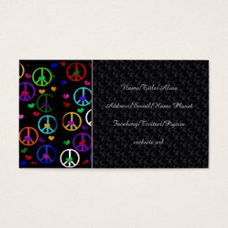 Rainbow Peace Hearts Business Card