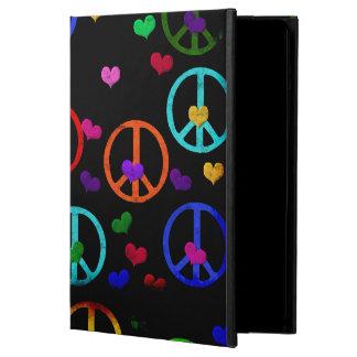Rainbow Peace Hearts Case For iPad Air