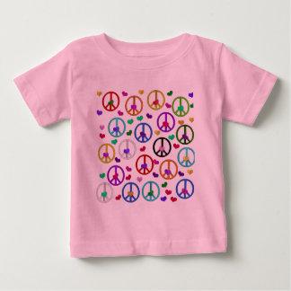 Rainbow Peace Hearts Shirts