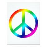Rainbow Peace Invitation