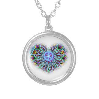 Rainbow peace kaleidoscope necklace