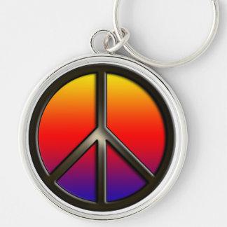 Rainbow Peace Keychain