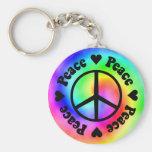 Rainbow Peace & Love Keychain Key Chains