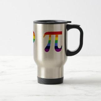 rainbow peace love pi travel mug