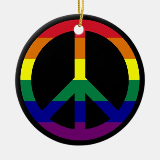 Rainbow Peace Ornament