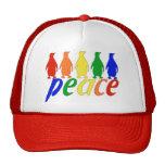 Rainbow Peace Penguins Mesh Hats