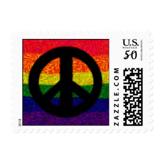 Rainbow Peace Postage