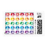 Rainbow PEACE Postage Stamps