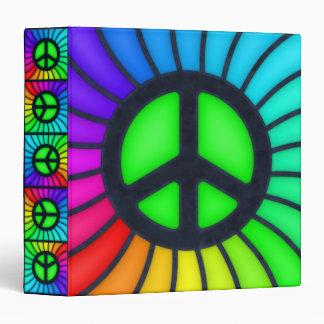 Rainbow Peace Sign Binder