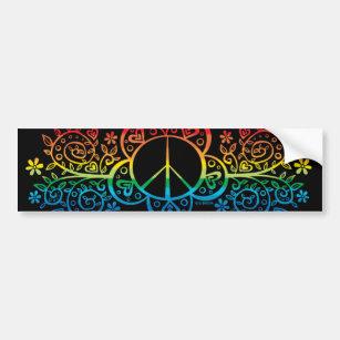 Rainbow Peace Signper Sticker