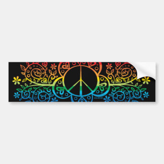 Rainbow Peace Sign Bumper sticker