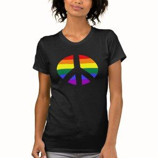 Rainbow Peace Sign Design Tshirts