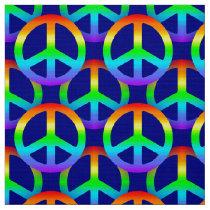 Rainbow Peace Sign Fabric