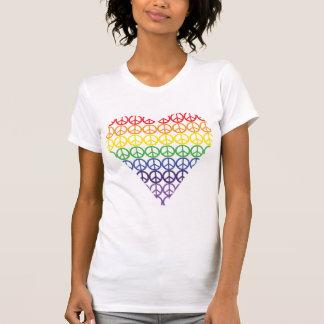 Rainbow Peace Sign Heart Shirt