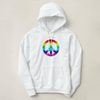 Rainbow Peace Sign Hoodie