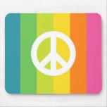 Rainbow Peace Sign Mouse Pad