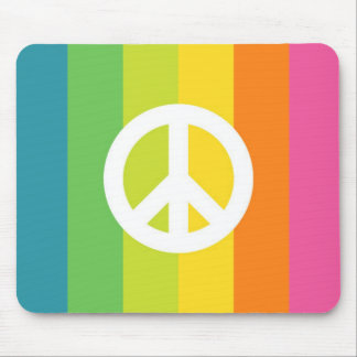 Rainbow Peace Sign Mousepads