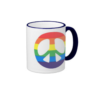 RAINBOW PEACE SIGN MUG