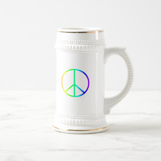 Rainbow Peace Sign Coffee Mugs