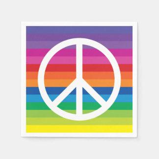 Rainbow Peace Sign Paper Napkin