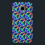 "Rainbow Peace Sign Phone Case<br><div class=""desc"">Peace symbol pattern cellphone case in rainbow colors.  Available for iPhone,  Galaxy and other popular smartphone and tablet models.</div>"