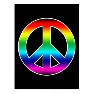 Rainbow Peace Sign Postcard