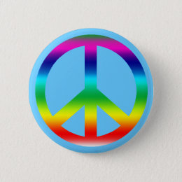 Rainbow Peace Sign Products Button