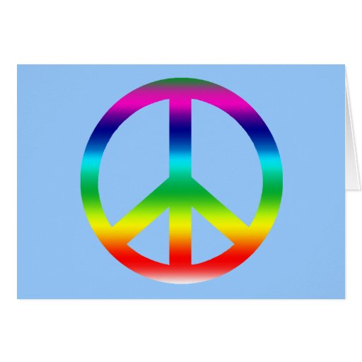 Rainbow Peace Sign Products Greeting Card