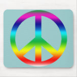 Rainbow Peace Sign Products Mouse Mat