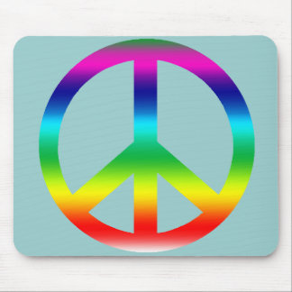 Rainbow Peace Sign Products Mouse Pad