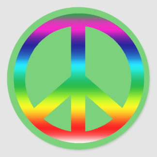 Rainbow Peace Sign Products Round Stickers