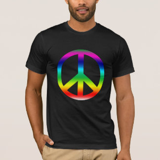 Rainbow Peace Sign Products T-Shirt
