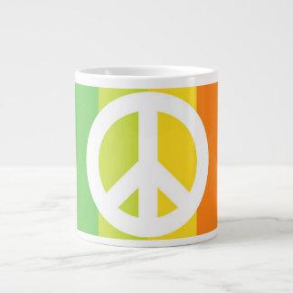 Rainbow Peace Sign Jumbo Mugs