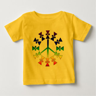 Rainbow Peace Sign Spiral Baby T-Shirt
