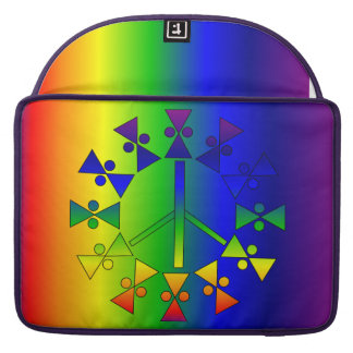 Rainbow Peace Sign Spiral Sleeve For MacBook Pro