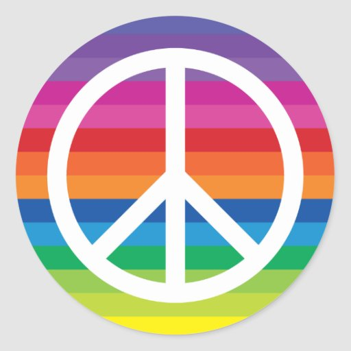 Rainbow Peace Sign Sticker