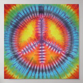 Rainbow Peace Sign Tie Dye