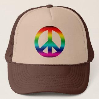 Rainbow Peace Sign Trucker Hat