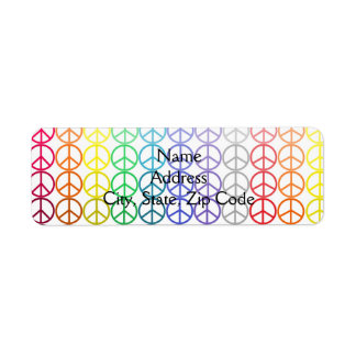 Rainbow Peace Signs Address Labels