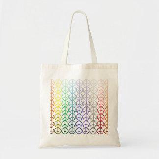 Rainbow Peace Signs Bag