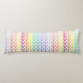 Rainbow Peace Signs Body Pillow